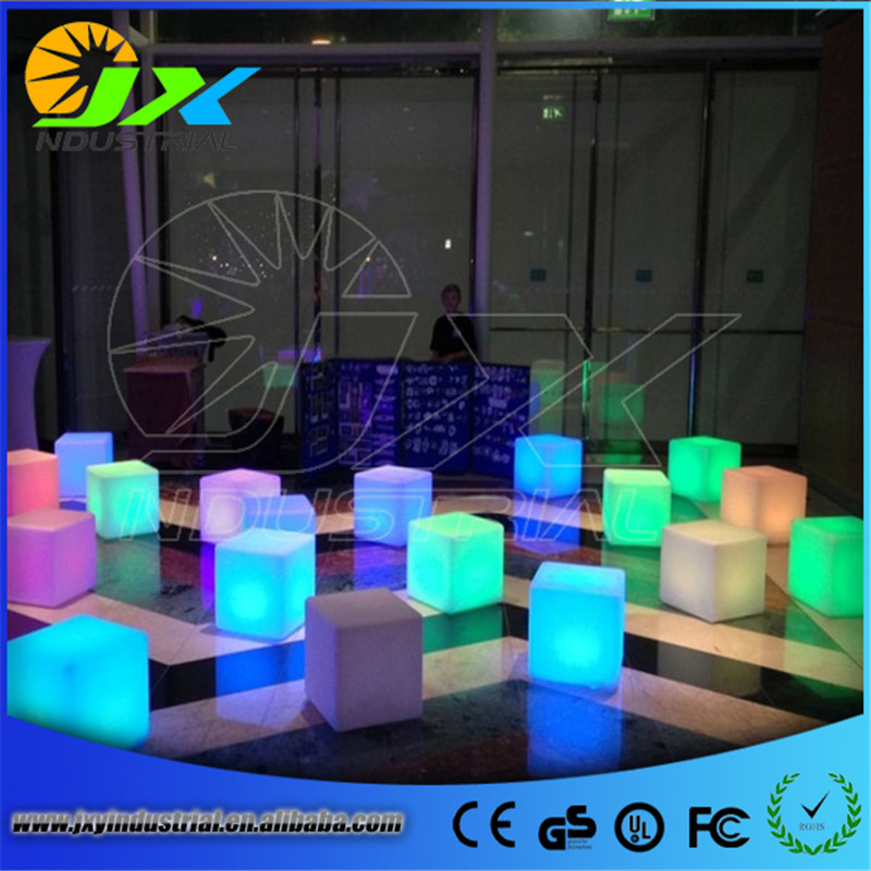 Free Shipping Best Quality 40*40*40cm Waterproof Garden LED Cube chair