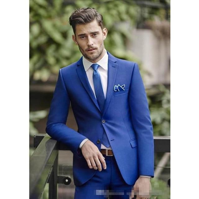 f3f7144a2e36 € 89.12  Terno elegante boda hombres trajes Slim Fit novio esmoquin para  hombres padrino traje barato Formal traje de negocios (chaqueta + ...