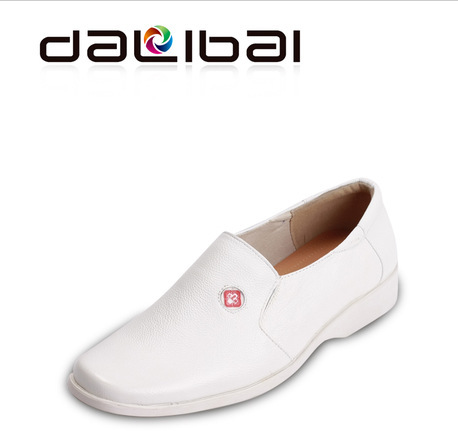 free shipping classic style men white leather loafers