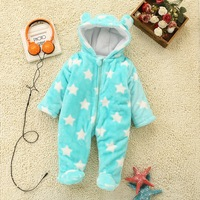Baby Autumn Winter Cotton Coverall Hooded Infant Jumpsuit Coat Out Romper Thick Clothes Winter Newborn
