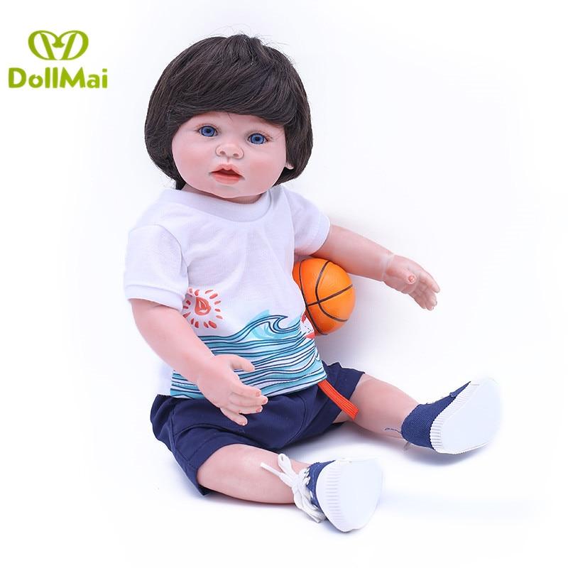 Bebes reborn real complete silicone baby boy dolls 43cm newborn baby alive doll can bathe child gift toys oyuncak bebek