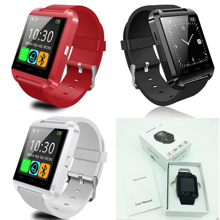Prix pour 20 pcs U8 smart watch Téléphone Compagnon Bluetooth montre cadeau De Noël MTK6260 pas altimater 3 couleurs avec la boîte de détail DHL livraison gratuite