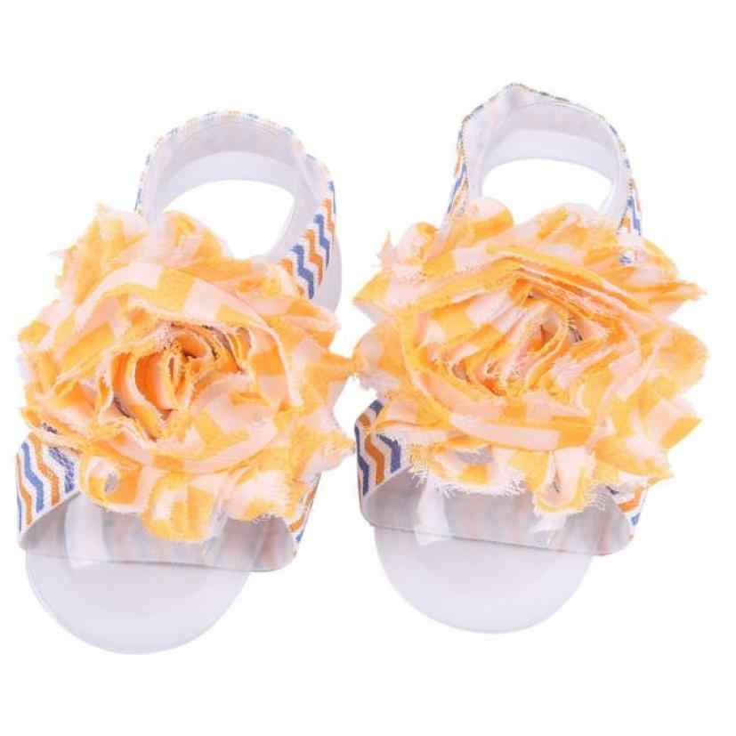 1 par infantil perla chifón niño descalzo pie flor playa Jan26