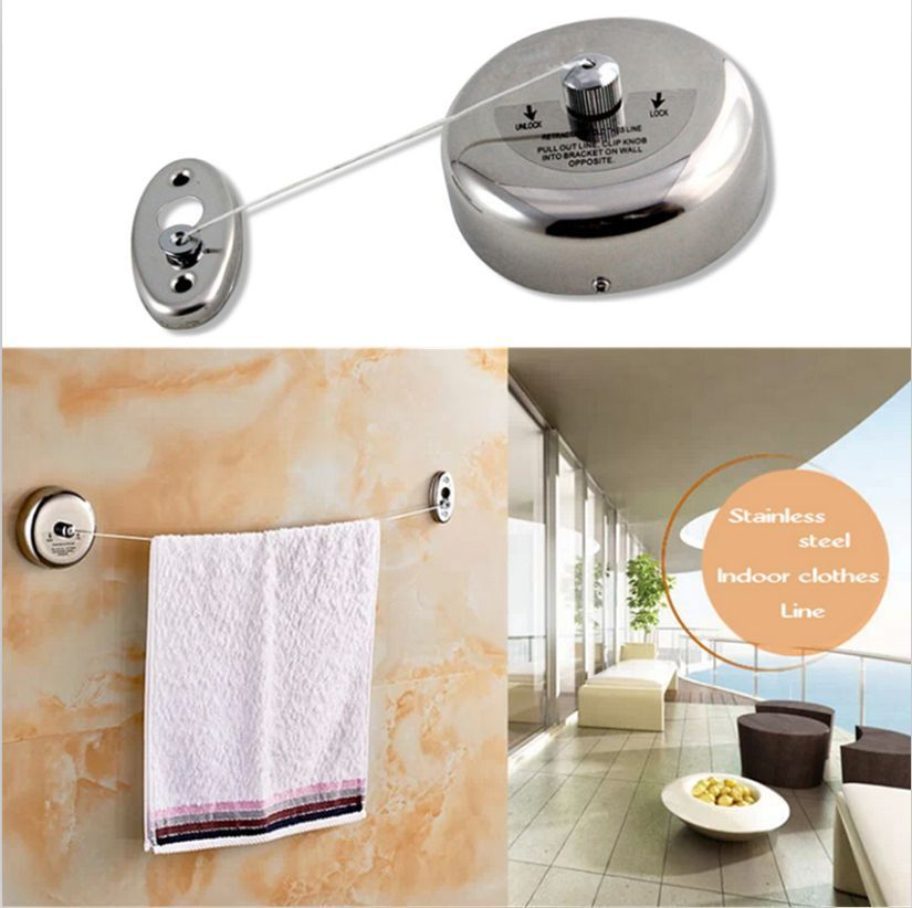 304stainless Steel Retractable Clothes Line Dryer Indoor Outdoor Laundry Fashion