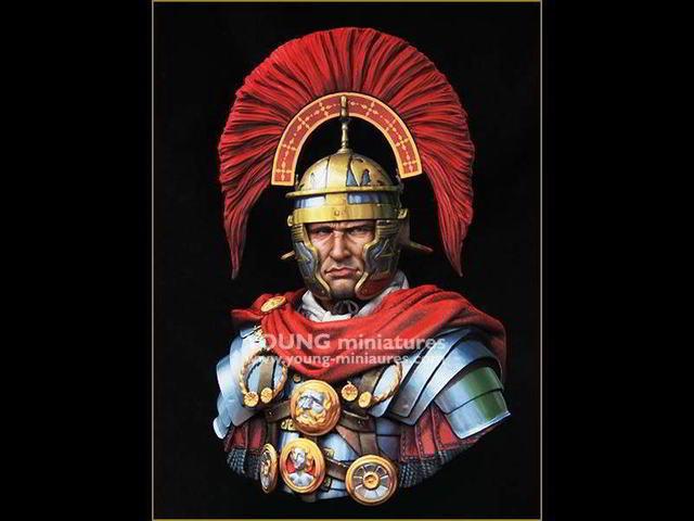 1 10 resin figure kit roman soldier army bust miniature kit in
