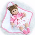 "18 ""de menina bebe realista boneca reborn lifelike menina bonecas bonecas de silicone bebês reborn toys para crianças prenda de natal"