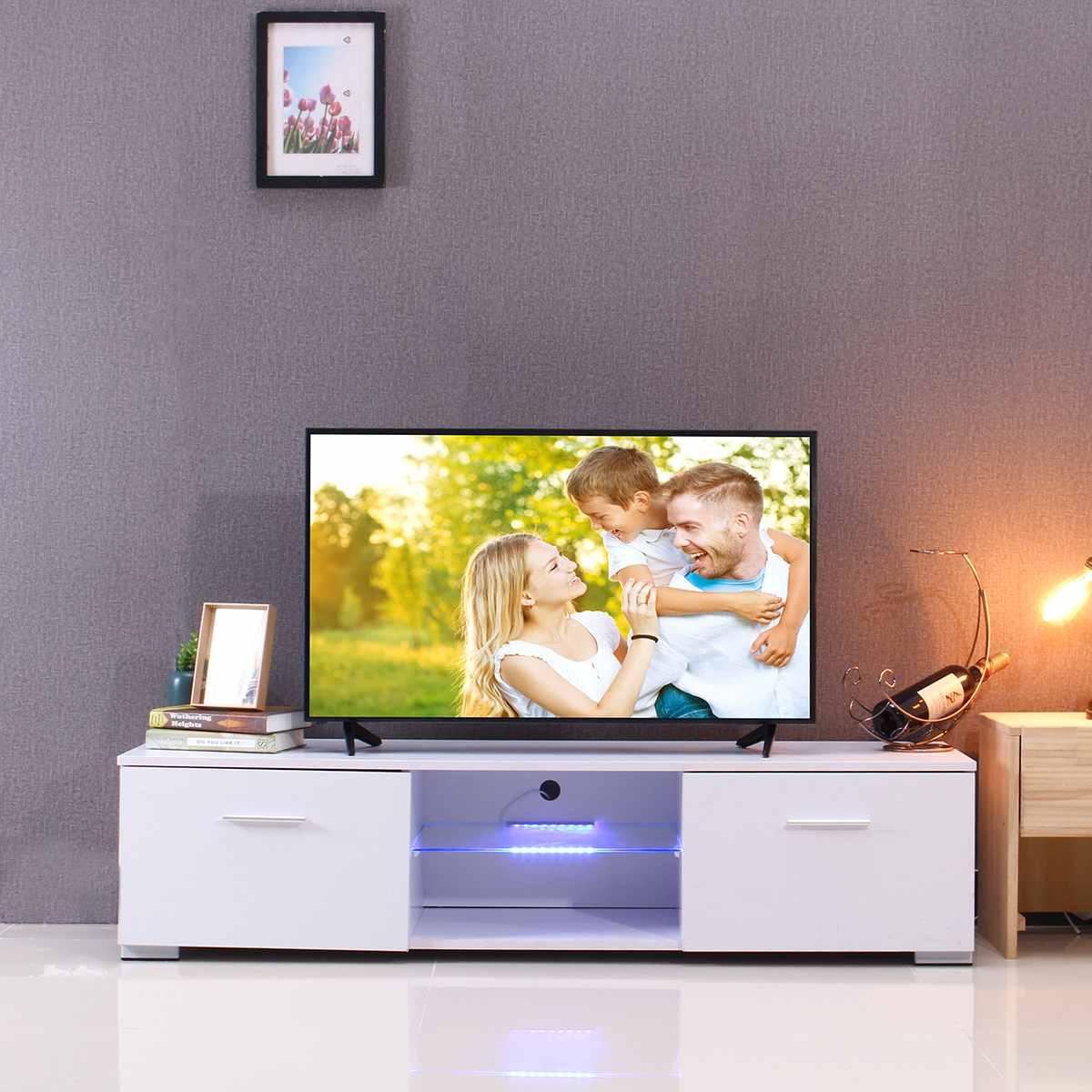 Tremendous 57 Inch White Black Wooden Tv Stands Portable Detachable Led Creativecarmelina Interior Chair Design Creativecarmelinacom