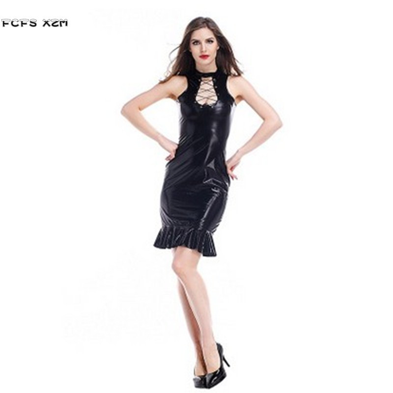 <font><b>Sexy</b></font> Tight Leather Female Mermaid tail Cosplay woman Halloween <font><b>Costumes</b></font> <font><b>Catwoman</b></font> Role play Christmas Nightclub dance party dress image