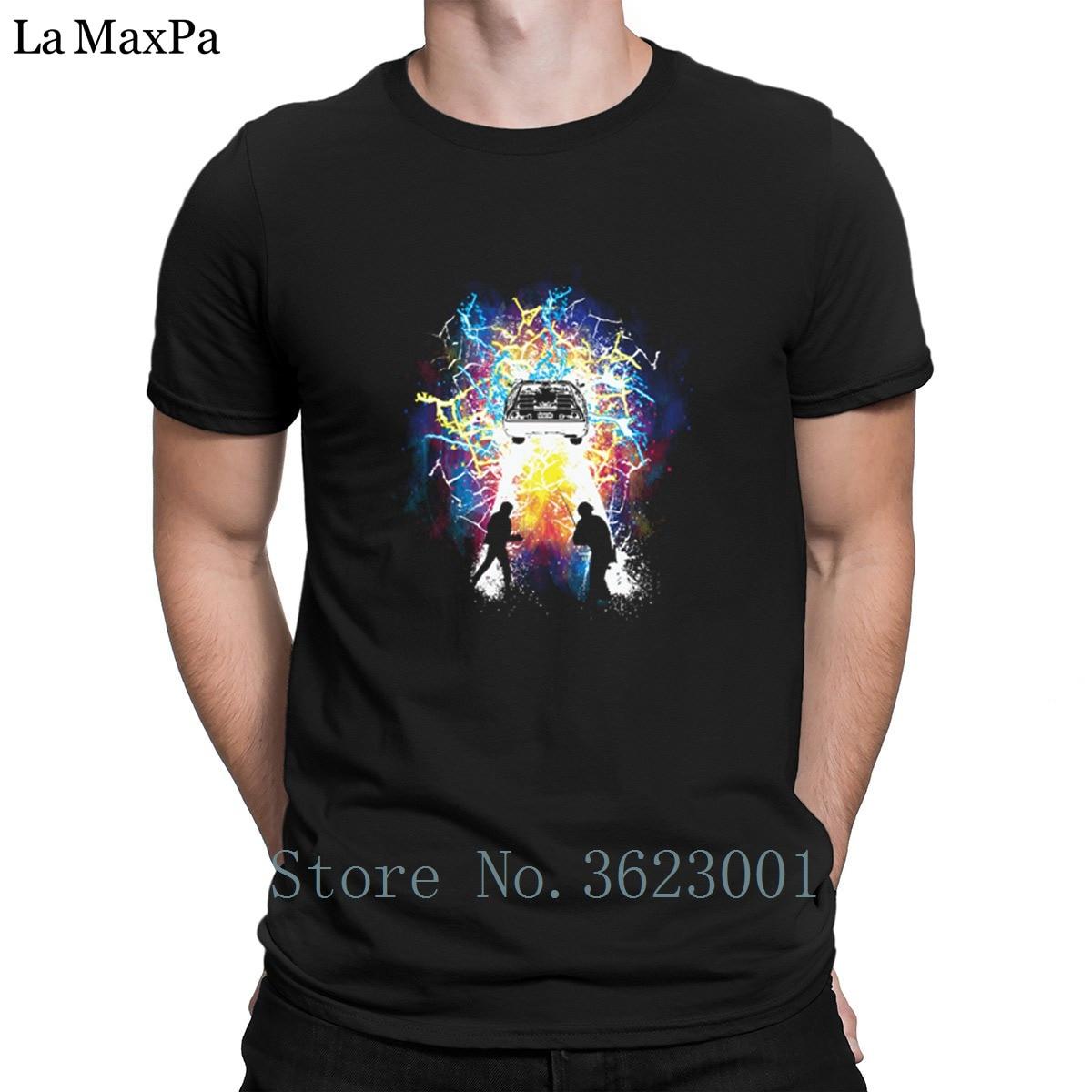 Дизайнерская новинка футболка путешественников во времени футболка человек хлопок простые свободные t, футболка для Мужская Уличная стиль...