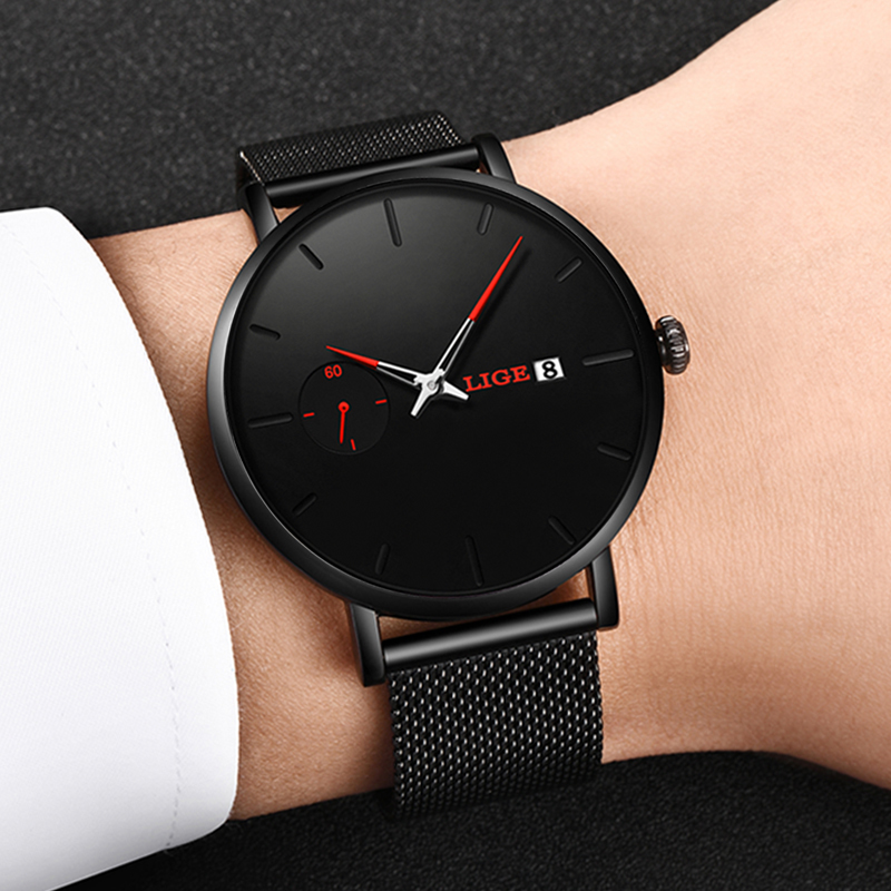 LIGE Watch Women And Men Watch Top Brand Luxury Famous Dress Fashion Watches Unisex Ultra Thin