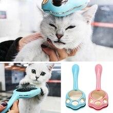 Pet расческа для удаления волос Профессиональный грумминг инструмент собака короткая средняя щетка для волос ручка Красота аксессуары-кисти расческа для кошек