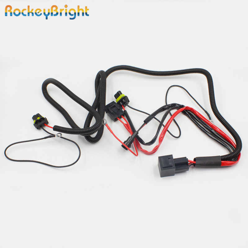 HID Conversion Kit Relay Wiring Harness Fit H3 H7 H8 H9 H10 H11 9005 Line Set