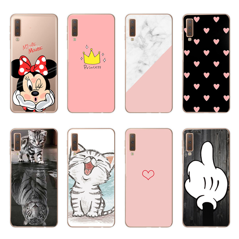 Luxury Soft TPU Minnie Case For Samsung Galaxy S10Plus 6.4'' Cover For Coque Galaxy S10e S9 Plus A7 2018 A30 A50 Phone Case Capa