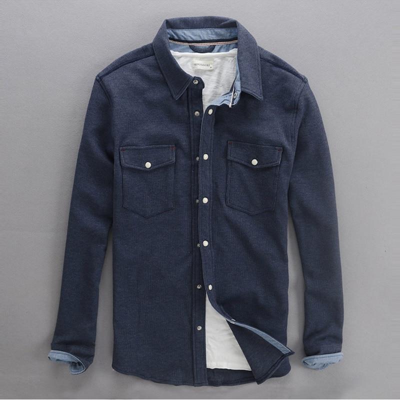 c57f435bb8 2017 de Otoño de manga larga camisas de los hombres de pana de algodón  hombres de la camisa delgada camisas gruesas de invierno para hombre  colothing camisa ...