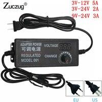DC адаптер В 3 В -В 12 В 3 В -В 24 в 9 В -24 в Регулируемый AC 12 В в изменение Универсальный В 24 В штекер Адаптер питания для США ЕС plug зарядное устройств...