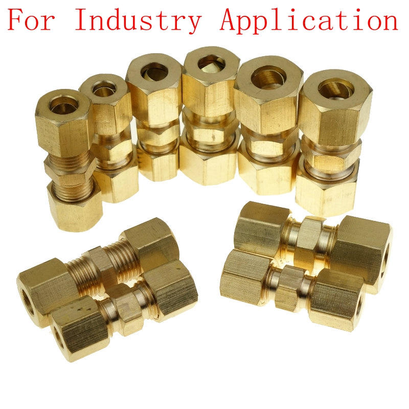 Brass Compression Fitting  Union Connector Equal/Union  For 3/16