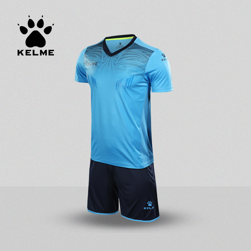 KELME Soccer Goalkeeper Jerseys Set Customized Short sleeve Men s Football Professional Goalkeeper 3871014