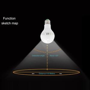 Image 5 - KARWEN AC 85 265V Smart Sound/ PIR Motion Sensor Bombillas LED Bulb E27 3W 5W 7W 9W 12W Induction lamp Stair Hallway light