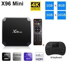 X96 mini Android 7.1 TV BOX 2GB 16GB Amlogic 1GB 8GB S905W QuadCore tv box 2.4GHz WiFi X96mini Smart set top box 4K Media Player himedia a5 bluetooth 4 0 3d 4k smart android 6 0 tv box 2gb 16gb amlogic s912 network media player 1000m lan hdr10 set top box