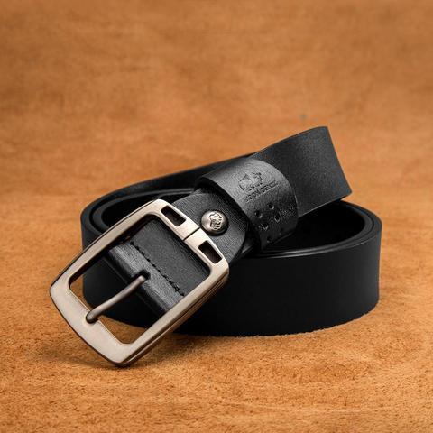 BISON DENIM Genuine Leather Mens Belt Vintage Pin Buckle Accessories Male Belts Gift Designer Belt Men Jeans Belt N70781 Karachi