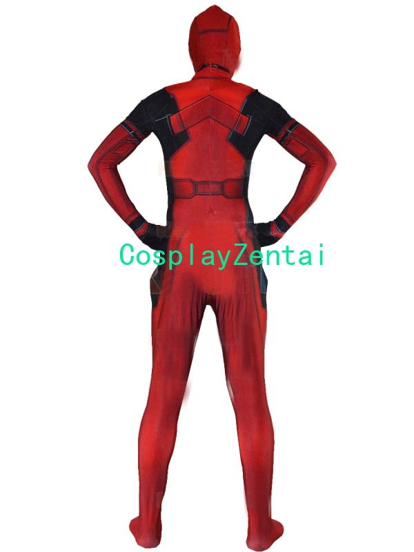 Deadpool kostiumas Spandex 3D Spausdinti Deadpool Cosplay Helovinas - Karnavaliniai kostiumai - Nuotrauka 3
