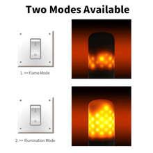 E27 LED Flame Flicker Light Bulb Fire Lamp 220V Ampoule E14 Flickering Emulation E26 Candle Dynamic Christmas Lights