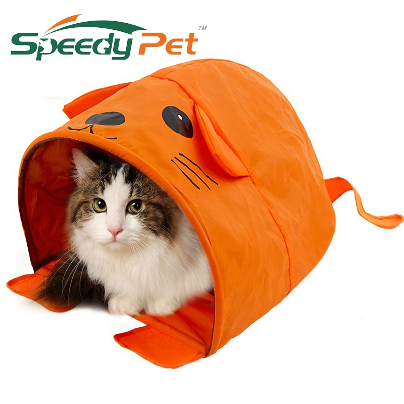 Cartoon Shape Cat Tent För Small / Medium Storlek Cat House Puppy Kattunge Bed Kaninbädd Enkel Lagring Resa Cat Girl Billig Pris