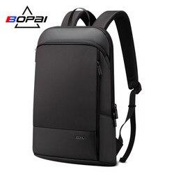 BOPAI Slim Men Backpack Thin Ultralight Laptop Backpack for 15.6inch Fashion Office Work Waterproof Business Backpack for Men