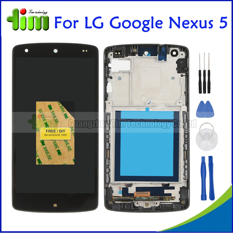 Original For LG Google Nexus 5 D820 D821 Black LCD Display and Touch Screen Digitizer Assembly