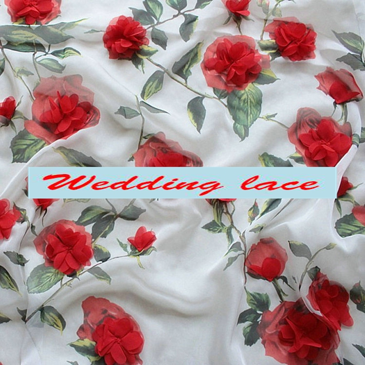 Hot Roses Flowers 100 Cotton Fabric 2 Yards Width 1 45 Meter Whole Vintage