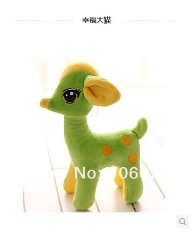 about 50cm green lifelike sika deer  plush toy doll quality goods gift  t5649