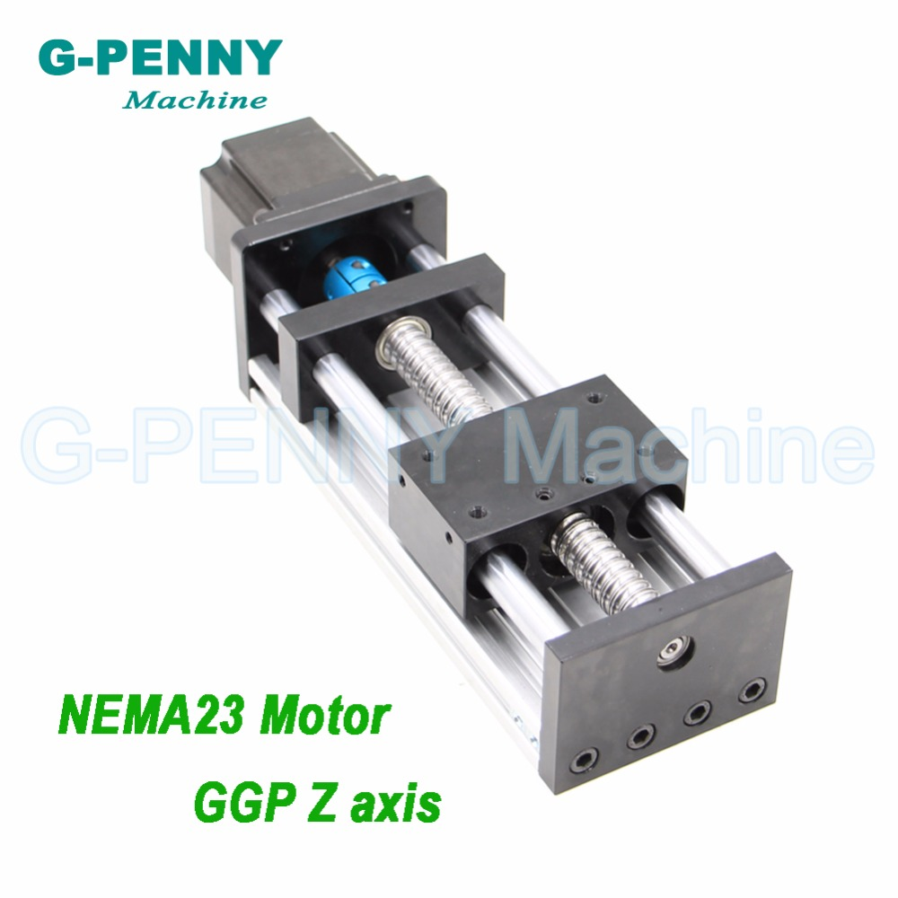 CNC Machine Z Axis Sliding Table Linear Motion Guide Rail with Ball Screw 1204/1605/1610 with NEMA23 Stepper Motor for X Y axis