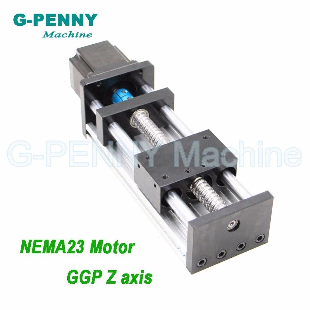 Rail de guidage de mouvement linéaire de Table coulissante d'axe de la Machine Z de CNC avec la vis à billes 1204/1605/1610 avec le moteur pas à pas de NEMA23 pour l'axe des Y de X