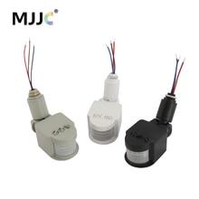 Motion Sensor 220V 12V Motion Detector Automatic Infrared PIR Sensor 220V 180 Degree Rotating Outdoor Timer