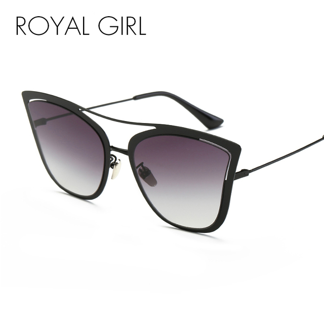 ROYAL GIRL Metal Frame Cat Eye Women Sunglasses Female Brand Designer Alloy  Legs Glasses Famous oculos de sol feminino ss907 f62ee0e098