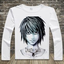 Long Sleeve T Shirts Anime DEATH NOTE L Print Tshirts Casual Tops