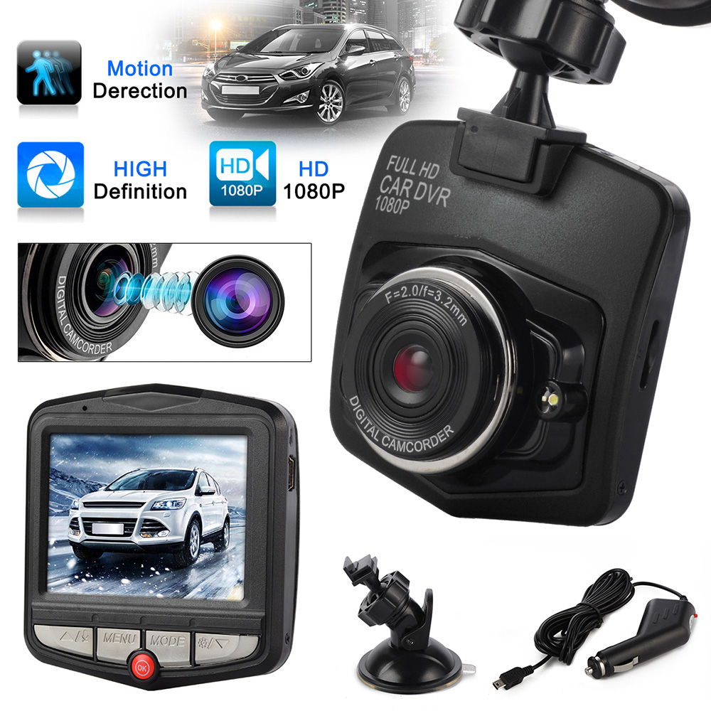 1080P Full HD Novatek GT300 Car Dvr 170 Degree Wide Angle Car Camera Recorder With Night Vision With G-Sensor Dash Cam Black