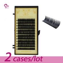 J&S 2cases All size,,High quality eyelash extension mink,individual eyelash extension,natural eyelashes,false eyelashes. недорого