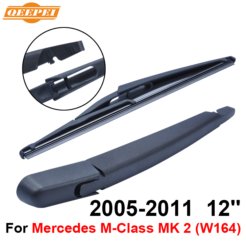QEEPEI Rear Windscreen Wiper and Arm For Mercedes M-Class MK 2 (W164) 2005-2011 12 4 doo ...