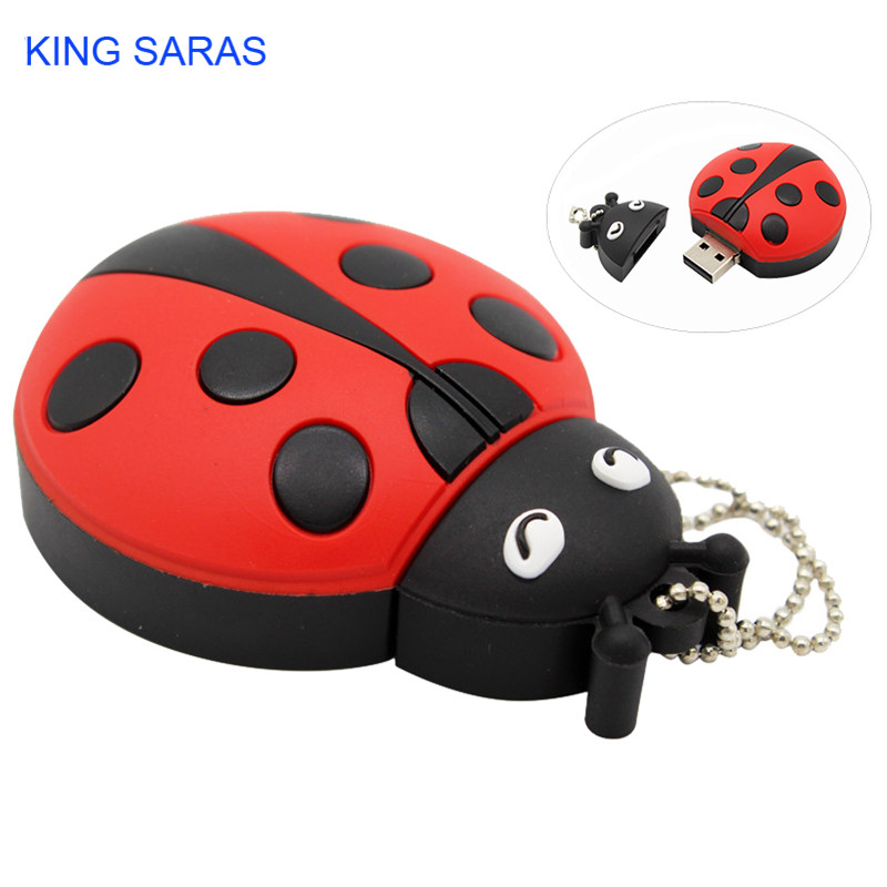 Image 5 - KING SARAS cartoon creative Beetle model usb 2.0 4GB 8GB 16GB 32GB 64GB pen drive USB Flash Drive  gifty Stick Pendrive-in USB Flash Drives from Computer & Office