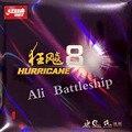 Goma de tenis de mesa Original DHS Hurricane8 Pips con esponja