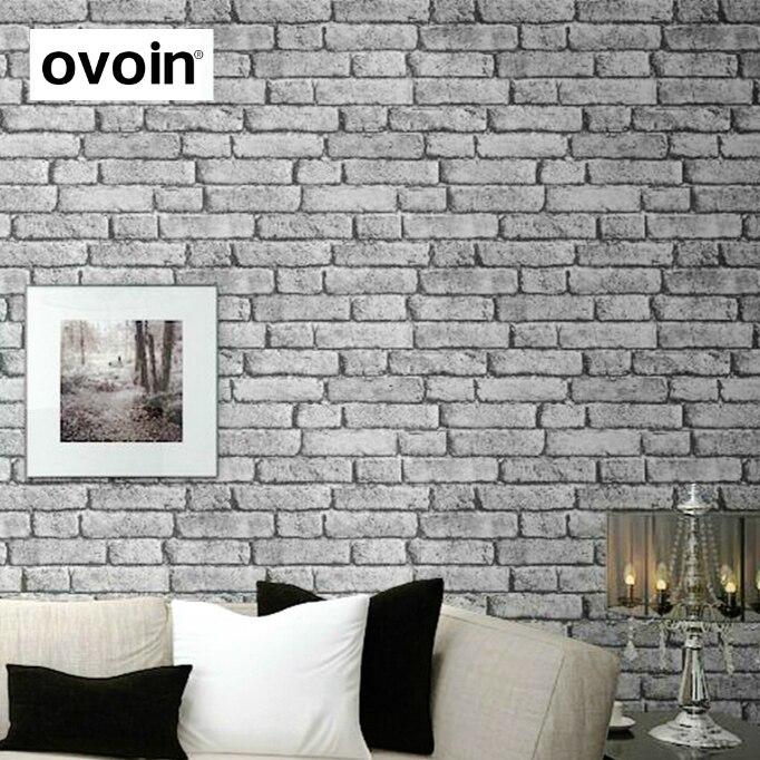 Tapeten Dark Weiß Grau Rustikalen Ziegel Wirkung Tapete Schwarz Ziegel Wand  Tapeten Für Wohnkultur Vintage Wandpapierrolle