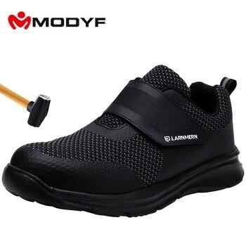 MODYF Men's Safety Shoes Steel Toe Construction Protective Footwear Lightweight Shockproof Work Sneaker Shoes For Men