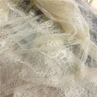Elegant 1.5M*1.5M Multicolour High quality jacquard eyelash lace fabric diy craft wedding dress clothing lace materil