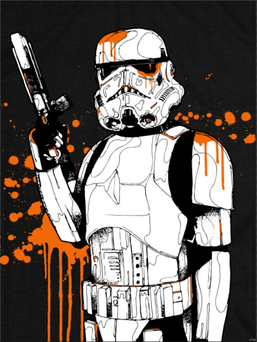 clone stormtropper star wars colour splashes art huge print poster txhome d7046china mainland