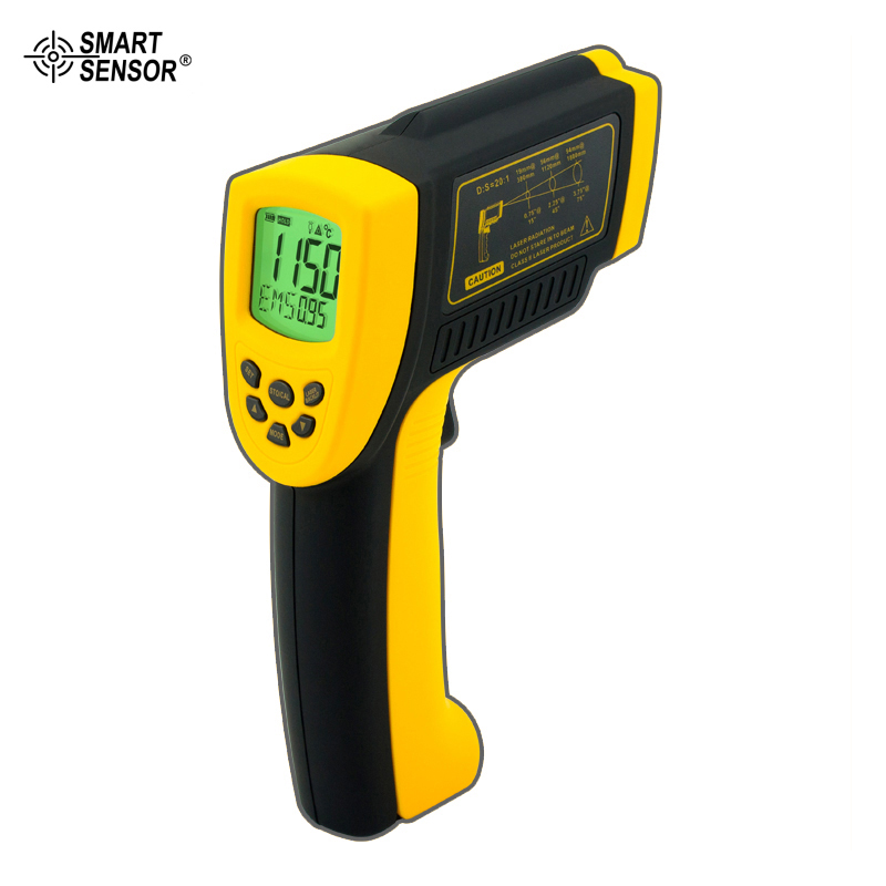 Smart Sensor AR872D Digital Portable Non-contact IR Infrared Thermometer -18C~1150C(-58F~2102F)  цены
