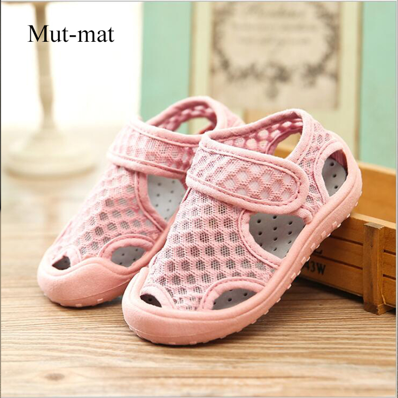 Summer New Children's Net Shoes Boys And Girls Baby Breathable Sandals Beach Shoes Hollow 1-7 Years Old