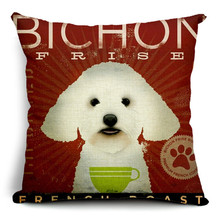 2016 New Arrived Home Decor Cushion Cover Cartoon Dog Style  Decorative Throw Pillowcase Cojines Almofada