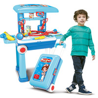 Toys for children kids toys children's house doctors toys changeable doctors trolleys suitcases toys for boys 8 years gift