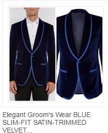 Navy Blue velvet Tuxedos